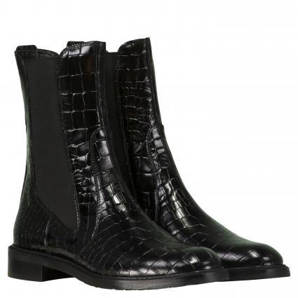 Stiefeletten 'Gator' aus Leder schwarz (BLACK)   38