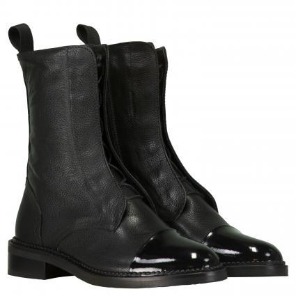 Stiefeletten aus Leder schwarz (BLACK) | 39