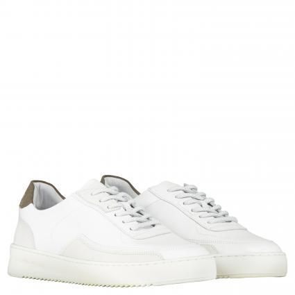 Sneaker aus Leder weiss (White) | 43