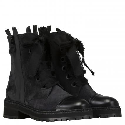 Boots aus Leder schwarz (MATCHA OFFBLACK) | 42