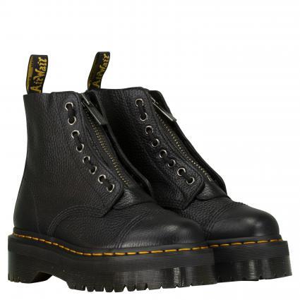 Boots 'Sinclair' aus Leder schwarz (BLACK AUNT SALLY)   40