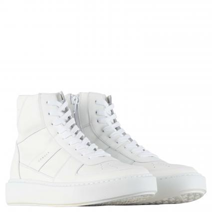 Hightop Sneaker aus Leder weiss (VIT.WHITE) | 42