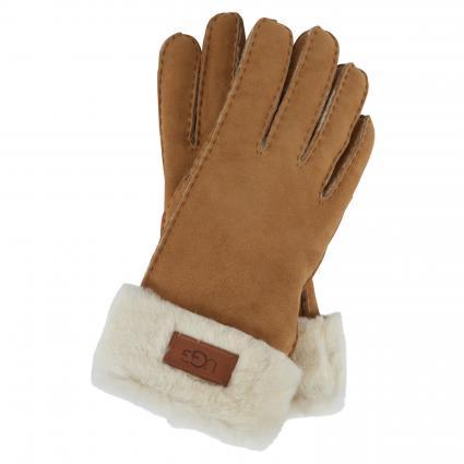 Handschuhe aus Leder cognac (CHESTNUT)   L