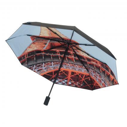 Regenschirm 'Eiffel' orange (blk/orange/blue)   0