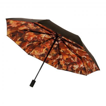 Regenschirm 'Höst' schwarz (blk/orange/brown) | 0