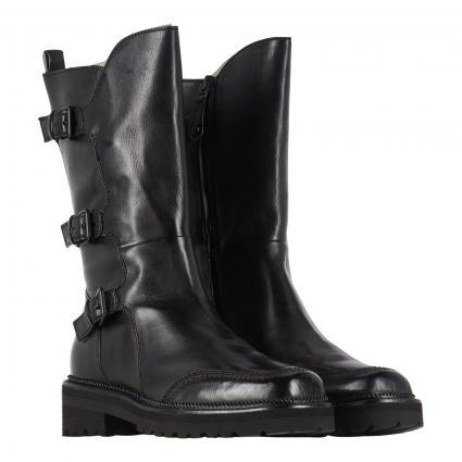 Stiefel aus Leder schwarz (NERO) | 38