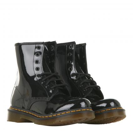 Boots 'PATENT schwarz (BLACK PATENT)   37