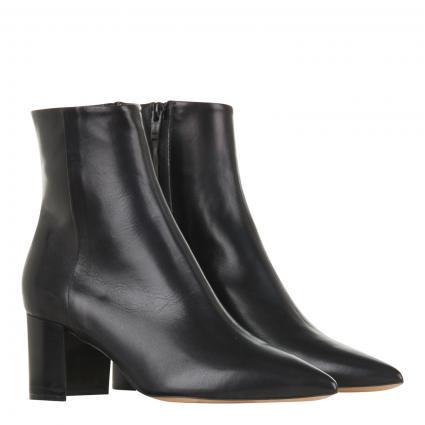 Stiefeletten aus Leder  schwarz (NATUR-NERO) | 39