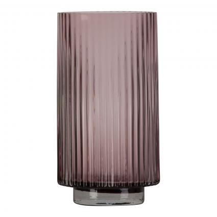 Vase 'Riffle L' aus Glas lila (PURPLE) | 0