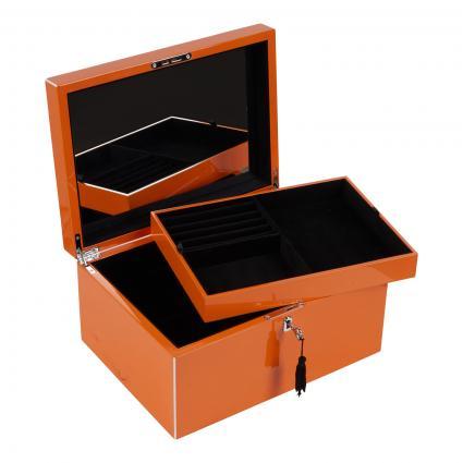 Schmuckbox Größe L orange (ORANGE) | 0