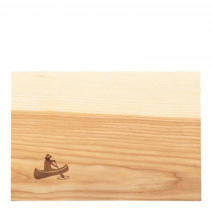 Frühstückbrett 'Paddelboot' aus Esche Holz braun (KANUFAHRER) | 0
