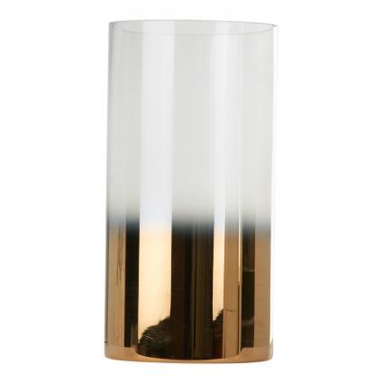 Windlicht 'Hurricane M' aus Glas gold (GOLD) | 0