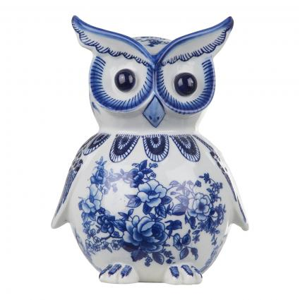 Spardose 'Owl' aus Porzellan blau (OWL) | 0