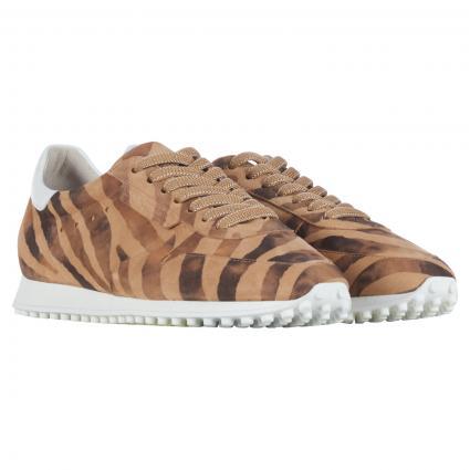 Sneaker 'Club' aus Leder camel (785 ZEBRATO CUOIO) | 39