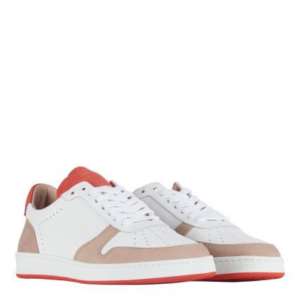 Sneaker aus Leder orange (CORAIL/NUDE)   38
