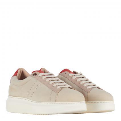Sneaker aus Leder beige (ROUGE/NUDE) | 39