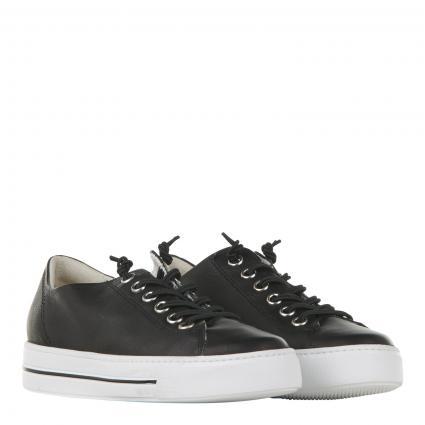 Sneaker aus Leder schwarz (058 MASTERCALF BLACK) | 37,5