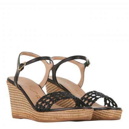 Sandalette 'Lobi' mit Keilabsatz schwarz (BLACK)   37