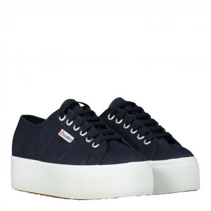 Sneaker mit Plateausohle  marine (F43 NAVY WHITE) | 38