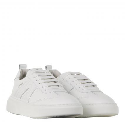 Sneaker 'Vitello' aus Leder weiss (WHITE) | 41