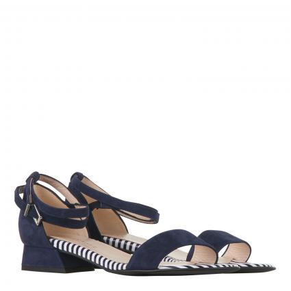 Sandale 'Pamila' aus Veloursleder blau (NOTTE SUEDE LINES) | 40,5