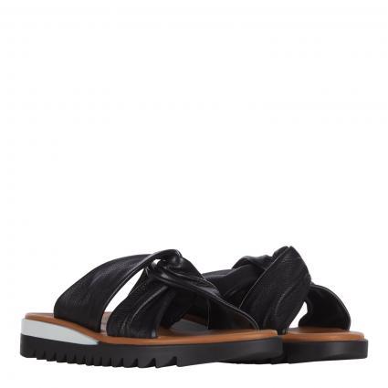 Sandale aus Leder schwarz (008 MASTERCALF BLACK) | 38