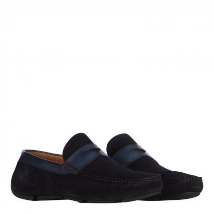 Slipper aus Leder marine (azul)   43