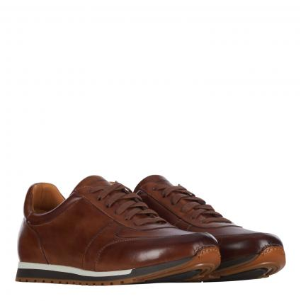 Sneaker aus Leder braun (tabacco)   41
