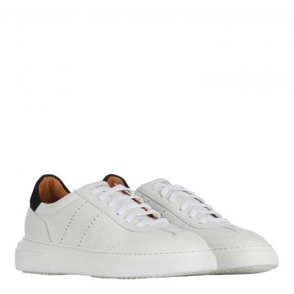Sneaker aus Leder  weiss (blanco/negro) | 41