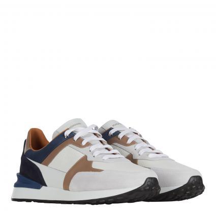 Sneaker aus Leder weiss (blanco azul) | 41