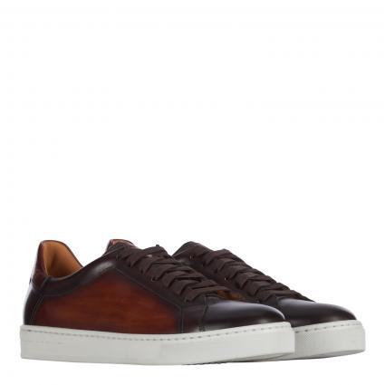 Sneaker aus Leder cognac (marron) | 41,5