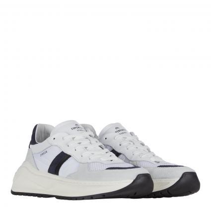 Sneaker aus Leder marine (NAVY) | 42
