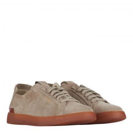 Sneaker aus Veloursleder beige (sabbia) | 45