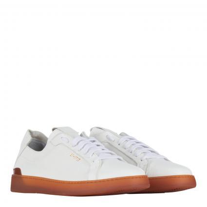 Sneaker aus Leder weiss (bianco) | 45