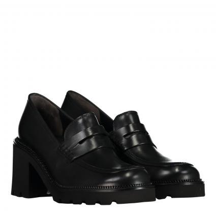 Slipper aus Leder schwarz (BRUSH CALF BLACK) | 40