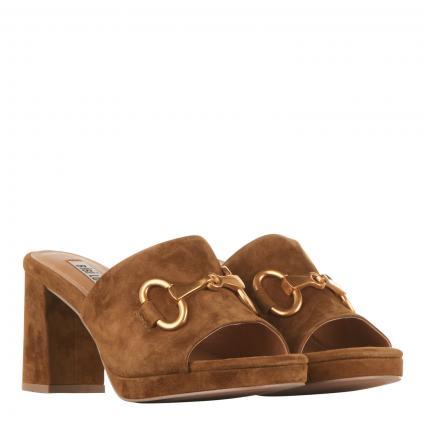 Sandalette aus Veloursleder cognac (CUERO) | 38