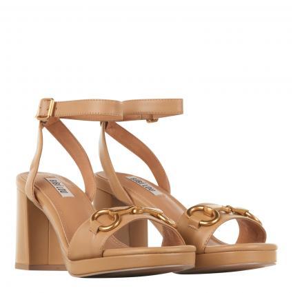 Sandalette aus Leder camel (CAMEL)   36