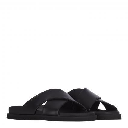 Sandalen 'Vitello' aus Leder schwarz (BLACK) | 38