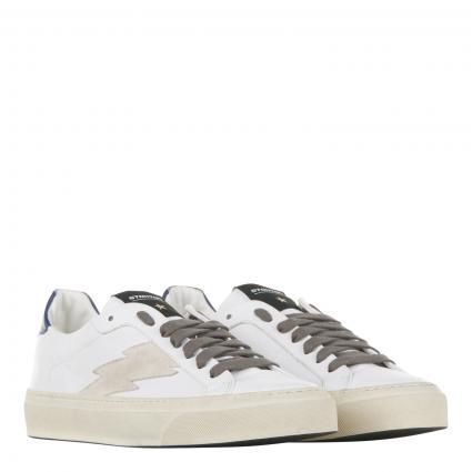 Sneaker 'Blaze u Ostuni' aus Leder weiss (bianca/grau)   42