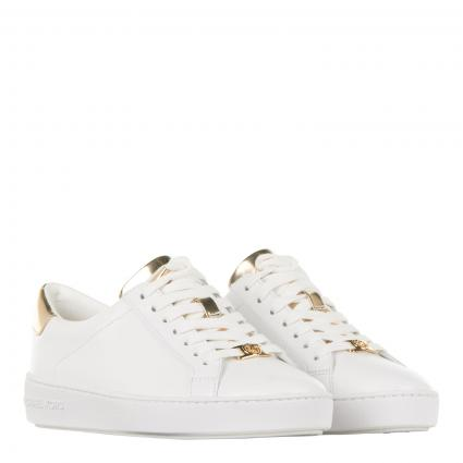 Sneaker mit Metallic-Details gold (751 OPTIC/PLGOLD) | 38,5