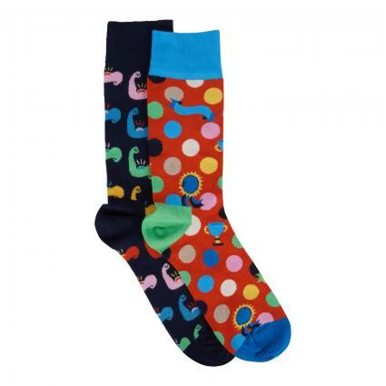 Geschenkbox 2er Set Socken 'World´s strongest Dad' divers (0200 fathers day gift set) | 41-46