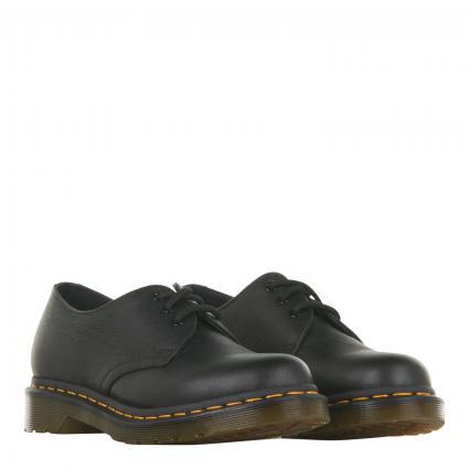 Schnürschuhe aus Leder schwarz (BLACK VIRGINA) | 37