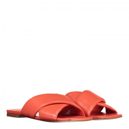 Sandale aus Leder orange (NAPPA MANDARINO) | 39