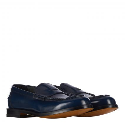 Slipper aus Leder marine (NB10 blau) | 41