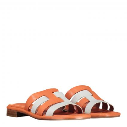Sandalen 'Blanca' aus Leder orange (BUFALINO TONIC-CITRU)   39