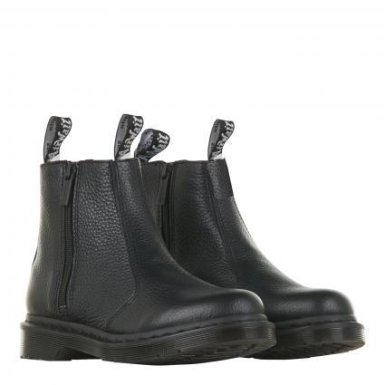 Stiefeletten aus Leder schwarz (BLACK MILLED NAPPA) | 38
