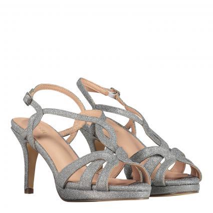 Sandalette mit Glitzer-Finish silber (09 SILBER)   41