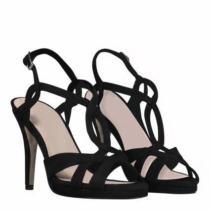 Sandaletten in Leder-Optik schwarz (01 SCHWARZ) | 38