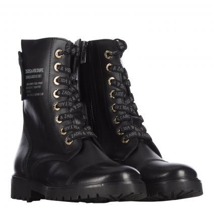 Boots 'JOE SMOOTH COWS' aus Leder  schwarz (NOIR NOIR)   40
