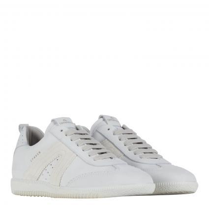 Sneaker aus Leder weiss (WHITE/WHITE)   38